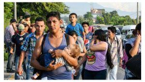 Caravana de migrantes de Honduras, Guatemala y El Salvador a Estados Unidos.